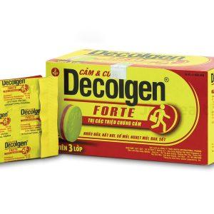 Thuốc không kê đơn Decolgen Forte